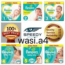 Pampers Premium Protection BabyDry Nappies Diapers Jumbo + Giga Size Packs