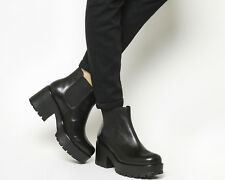 Womens Vagabond Dioon Elastic Chelsea Boots Exclusive BLACK LEATHER Boots