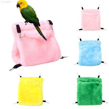 A6EA Pet Bird Parrot Hanging Swing Bed Cage Hammock Chew Feeder Parakeet Toy