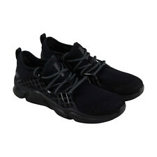 Skechers Drafter Havenedge Mens Black Mesh Athletic Lace Up Training Shoes