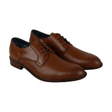 Steve Madden Hicksin Mens Tan Leather Casual Dress Lace Up Oxfords Shoes