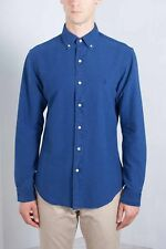 POLO RALPH LAUREN Uomo - Camicia sportiva button-down in cotone blu