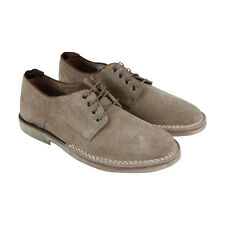Steve Madden Lowman Mens Gray Suede Casual Dress Lace Up Oxfords Shoes
