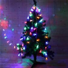 Christmas Tree Bells Shaped Fairy Light Led String 20 Lights Holiday Accessories