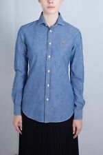 POLO RALPH LAUREN Donna - Camicia in chambray azzurro