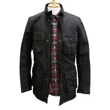 Barbour Corbridge Wax Jacket in Black - Size S