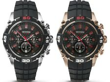 Sekonda Sports Chronograph Black Dial Black Resin Strap Gents Watch