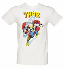 Official Men's White The Mighty Thor Marvel T-Shirt