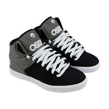 Osiris Clone Mens Black Gray Canvas Sneakers Lace Up Skate Shoes