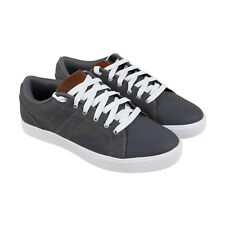 Osiris Turin Mens Gray Leather & Textile Sneakers Lace Up Skate Shoes