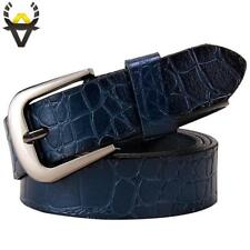 Genuine leather Belts for Women Fashion Pin buckle thin woman belt High quality