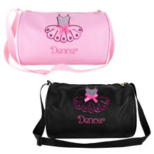Kids Girls Ballet Dance Bag Shiny Sequins Embroider Dancing Duffle Shoulder Bags