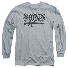 Sons Of Anarchy Worn Son Mens Long Sleeve Shirt Athletic Heather