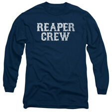 Sons Of Anarchy Reaper Crew Mens Long Sleeve Shirt Navy