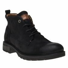 New Mens Tommy Hilfiger Black Winter Chukka Leather Boots Lace Up