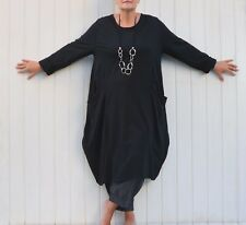 "PLUS SIZE COTTON 60"" BUST LAGENLOOK QUIRKY PARACHUTE DRESS OVERSIZED NEW 9451C"