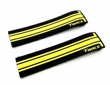 Black/Yellow Rubber Band Silicone Strap for Tissot Sport Watch T-Race 21mm Clasp