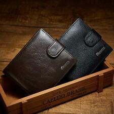 Luxury Brand Business Mens Wallet Leather Genuine Trifold Wallet With Coin Purse