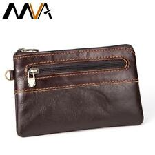 MVA Genuine Leather Wallet Men Coin Purse Zipper Short Wallets Male Purse Photo