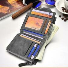 soft wallet Men Bifold Purse Wallet Men Soft Leather wallet with removable card