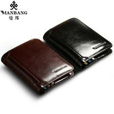 ManBang Classic Style Wallet Genuine Leather Men Wallets Short Male Purse Card H