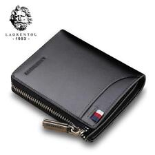 Laorentou Men Wallet Genuine Leather Card Holder Short Wallet Luxury Man Purse B