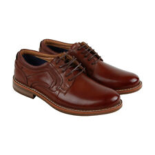 Steve Madden Orlando Mens Brown Leather Casual Dress Lace Up Oxfords Shoes
