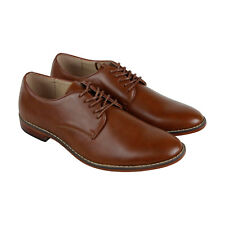 Steve Madden M-Chazy Mens Brown Leather Casual Dress Lace Up Oxfords Shoes