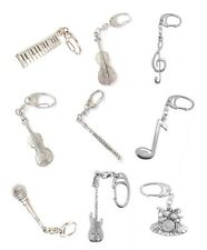 Music Pewter Keyring (Violin,Piano,Cello,Singing,Flute,Drum,Electric Guitar etc)
