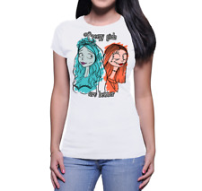 T - SHIRT DONNA CREEPY GIRLS ARE BETTER TIM BURTON CHARACTERS SALLY EMILY CORPSE