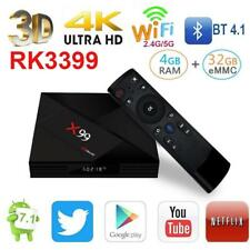 Fuloophi 2018 Latest X99 Android 7.1 TV BOX RK3399 4GB RAM 32GB ROM With Voice r