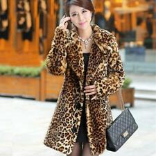 Hot-selling New winter Korean faux fur coat,Thick warm leopard mink trench coats