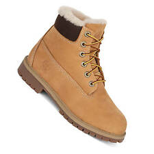 Timberland 6 Inch Premium Boot Junior Wheat Winter Boots Genuine Lamb fur A1BEI