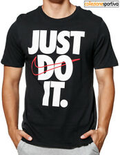 T-SHIRT UOMO/DONNA NIKE SPORTSWEAR JUST DO IT - 928344-010 col. nero/bianco