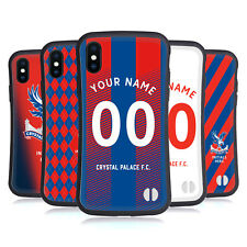CUSTOMISED CRYSTAL PALACE FC 2018/19 BADGE HYBRID CASE FOR APPLE iPHONES PHONES
