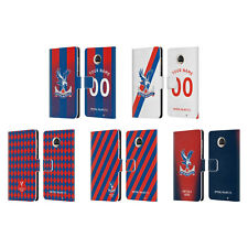 CUSTOMISED CRYSTAL PALACE FC 2018/19 BADGE LEATHER BOOK CASE FOR MOTOROLA PHONES