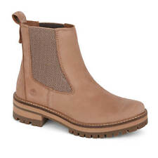 Timberland Courmayeur Valle Chelsea Boots Botas Mujer Plateau Suela Tawny