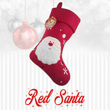 Luxury Personalised childrens Embroidered Xmas Stocking Santa Christmas Baby