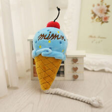 Ice Cream Shape Pet Toy Dog Puppy Squeaky Plush Sound Great High quality Soft