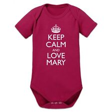 Keep Calm And Love MARY Baby Strampler