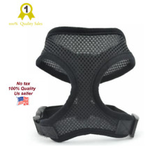 New Mesh harness pet control dog cat soft black collar safety strap vest puppy