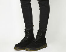 Womens Dr. Martens 8 Eyelet Lace Up Boots Black Suede Boots