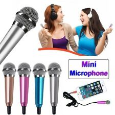 Mini Karaoke 3.5mm Wired Condenser Microphone for Computer Android phones.