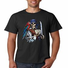 Dead Mans Hand Poker Cards Pirate Skull Cool Funny T Shirt Tee