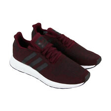 Adidas Swift Run Mens Red Textile Athletic Lace Up Running Shoes