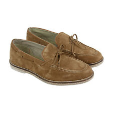 Steve Madden Espada Mens Brown Suede Casual Dress Slip On Loafers Shoes