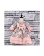 Stunning Baby Girls Spanish Style Romany Tiered Floral & Bow Dress AW18