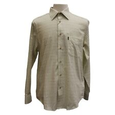 Barbour Field Tattersall Shirt Classic Collar in Green/Brown - Size S