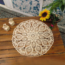 Tablecloth Doily Table Cloth Handmade Crochet Lace Cotton Cover Mat Round 60 cm