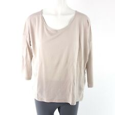 Drykorn Women Shirt IRINE GR S 36 M 38 L 40 Beige Crew Neck Light Np 90 New